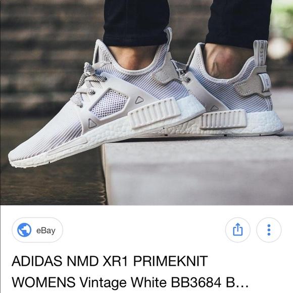 Adidas NMD XR1 Women's Vintage White